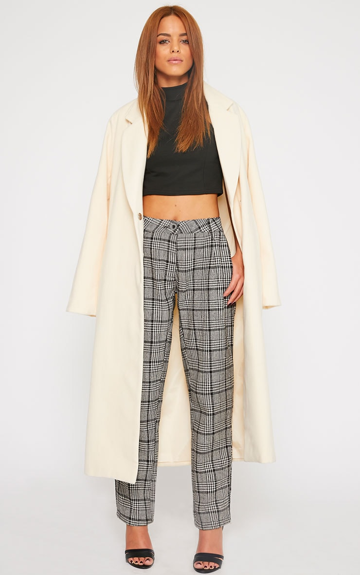 Amelia Dogtooth Tweed High Waist Trousers 7