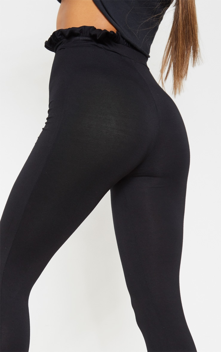 Black Paperbag Leggings 5