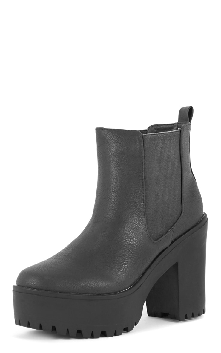 Jaida Black Chunky Chelsea Boot 3