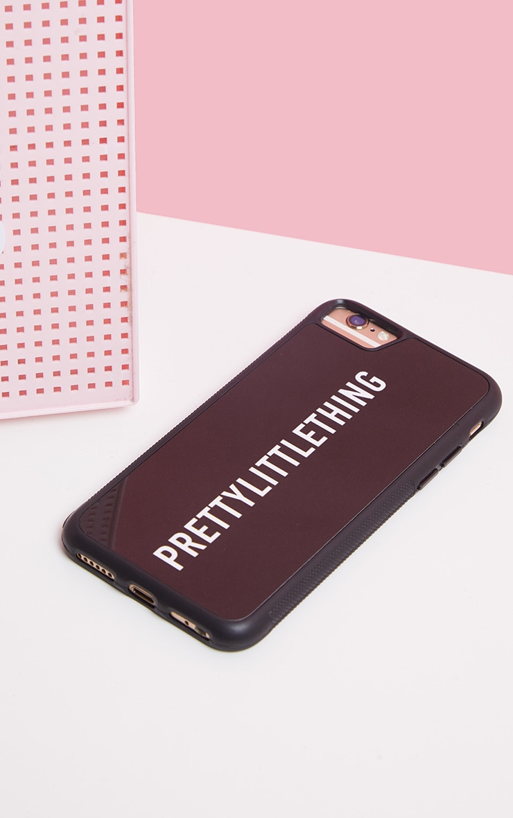 PRETTYLITTLETHING Black Logo iPhone Case 8 2