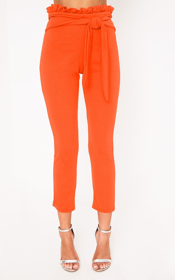 Orange Paper Bag Skinny Trousers 2