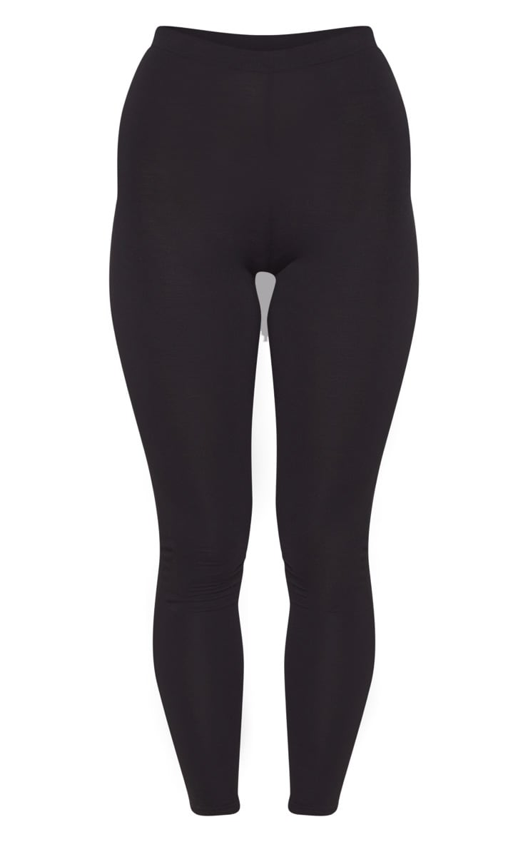 Basic Black Jersey Leggings 4