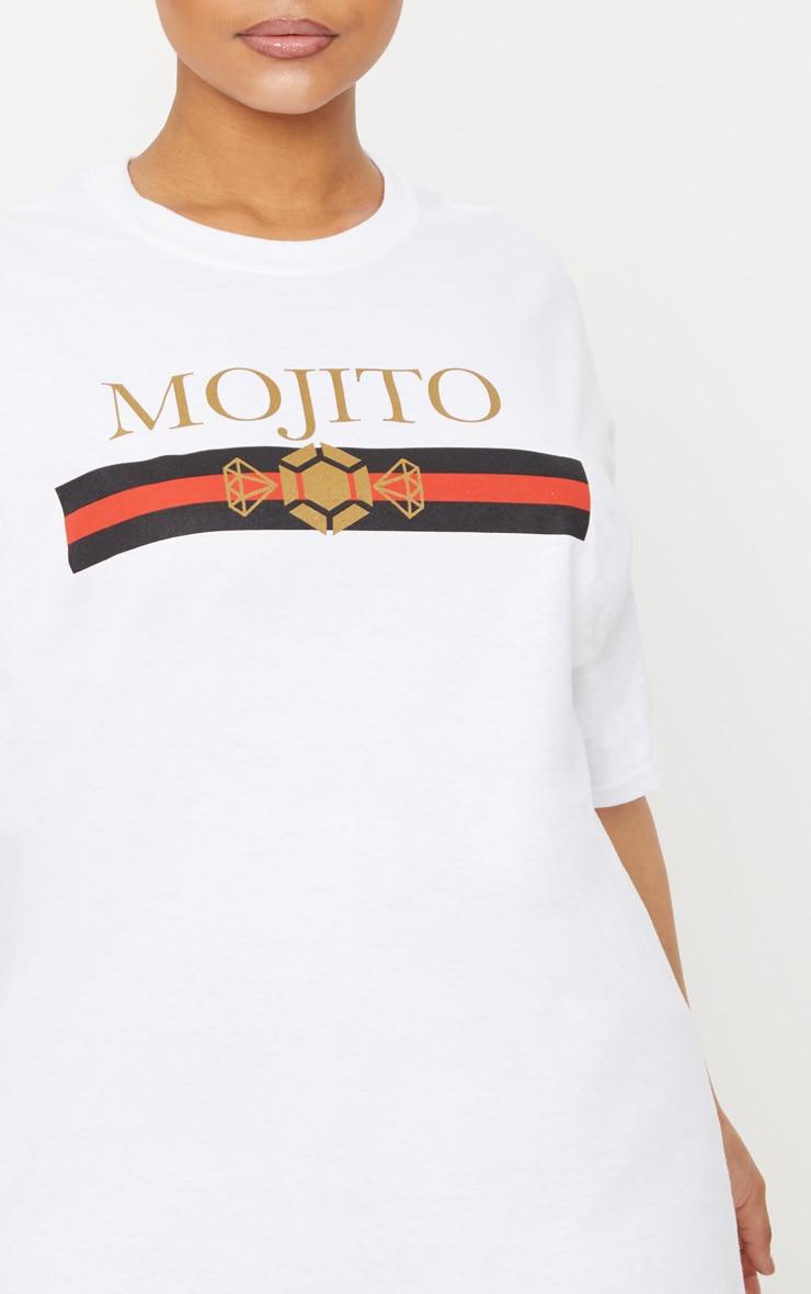 Plus White Mojito Slogan T Shirt 5