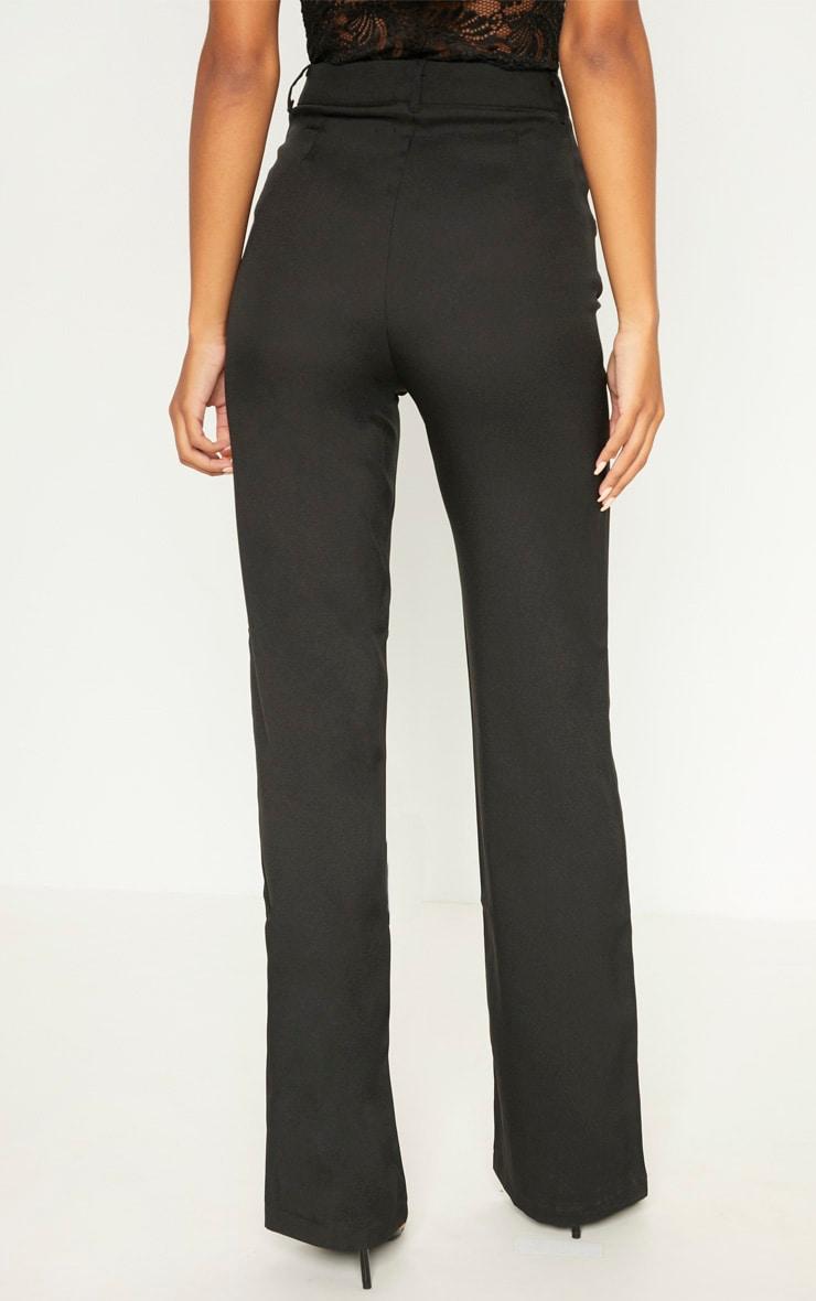 Anala Black High Waisted Straight Leg Trousers 4