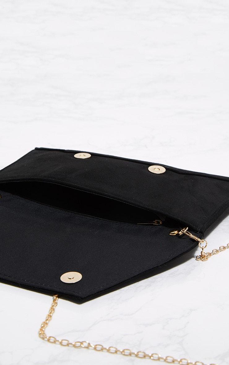 Black Envelope Clutch Bag 5