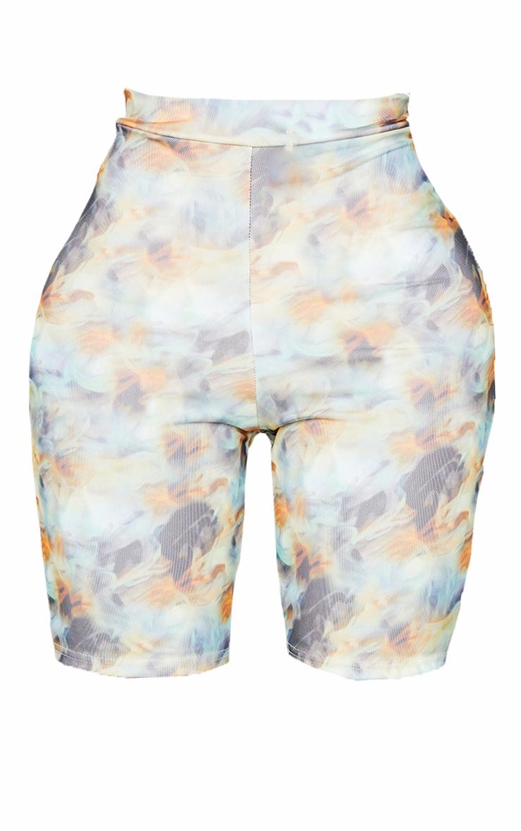Shape Blue Smoke Print Mesh Bike Shorts 6