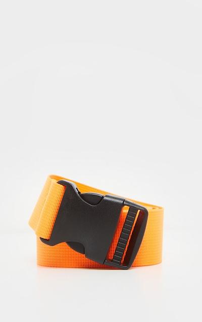 Neon Orange Slider Buckle Tape Belt