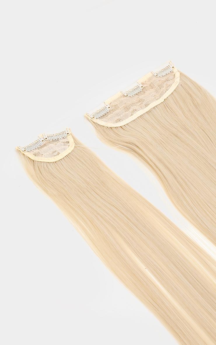 LullaBellz - Extensions lisses à clipser 57 cm - Light Blonde 7