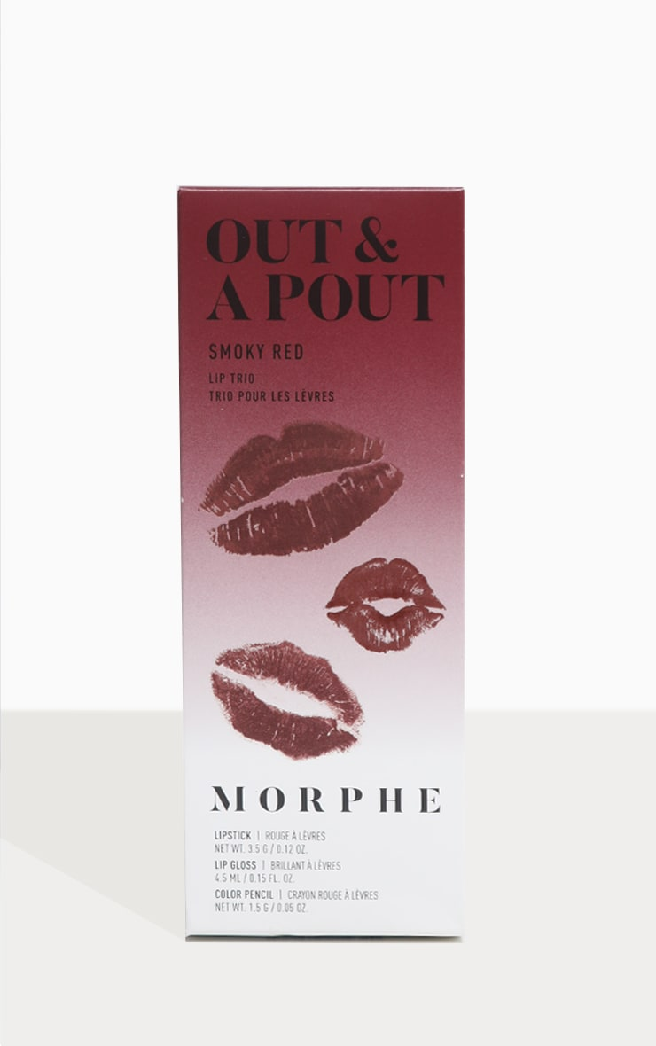 Morphe Out & A Pout Red Trio Smoky Red 5