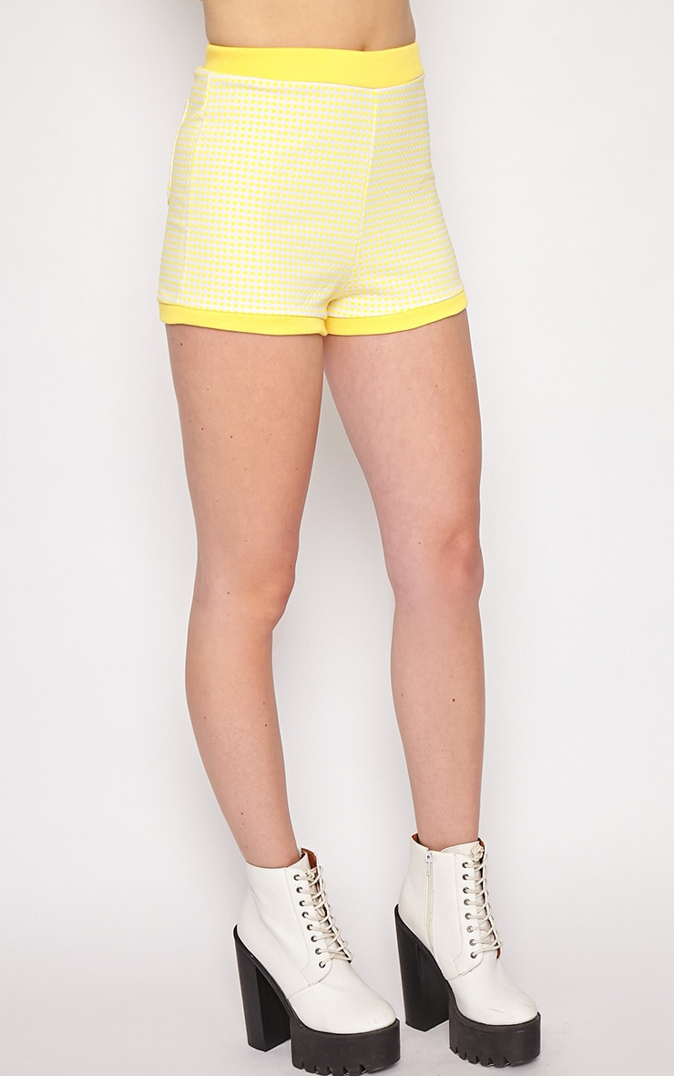 Mabel Yellow Gingham Shorts 4
