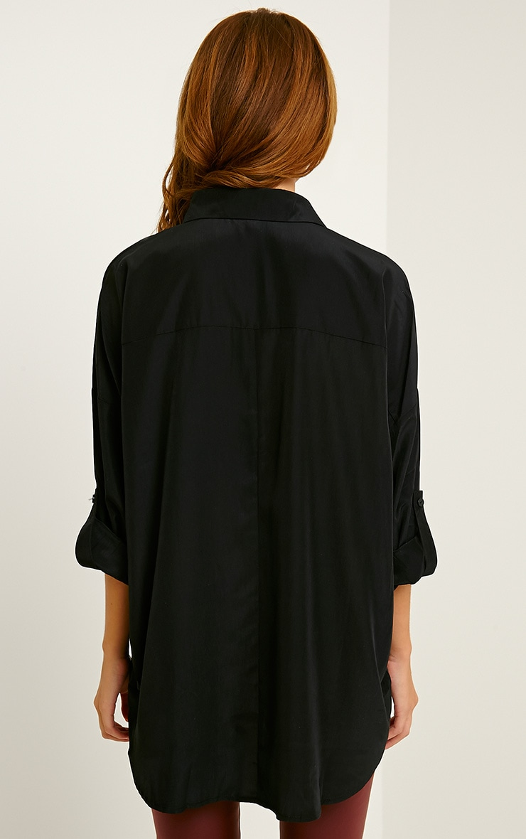 Birta Black Oversized Pocket Shirt 2