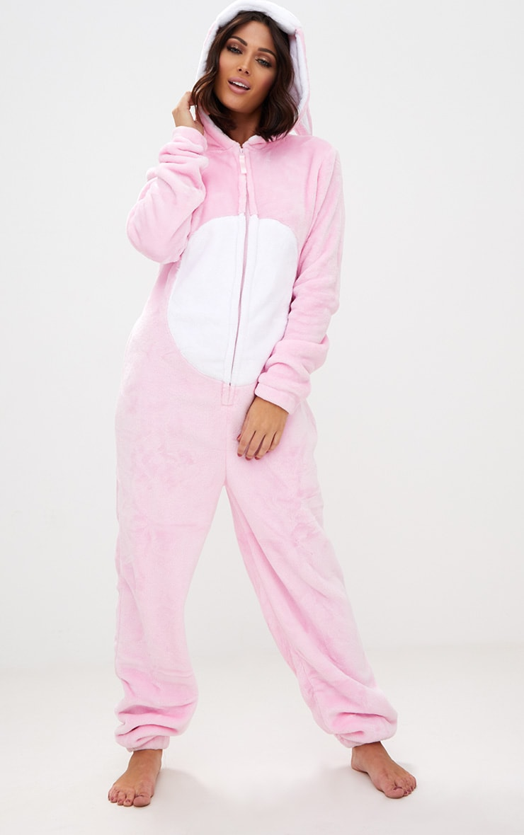 Pink Rabbit Onesie 4
