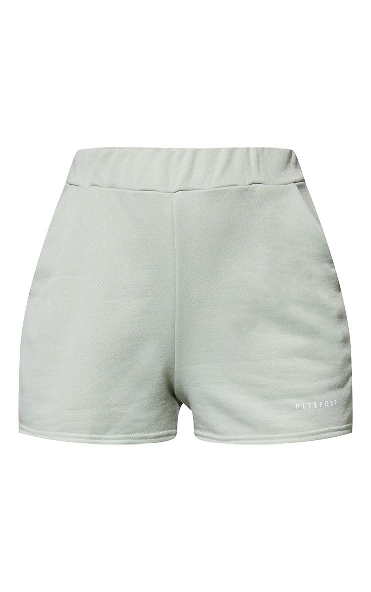 PRETTYLITTLETHING Green Sport Sweat Shorts 6