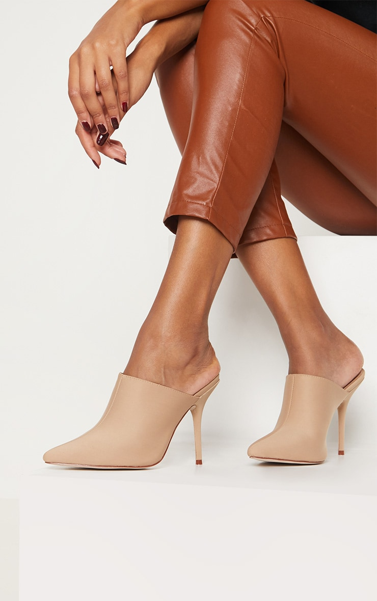 Mules nude pointues