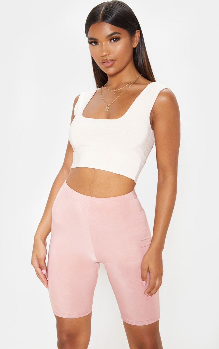Dusty Rose Slinky High Waisted Cycle Shorts 5