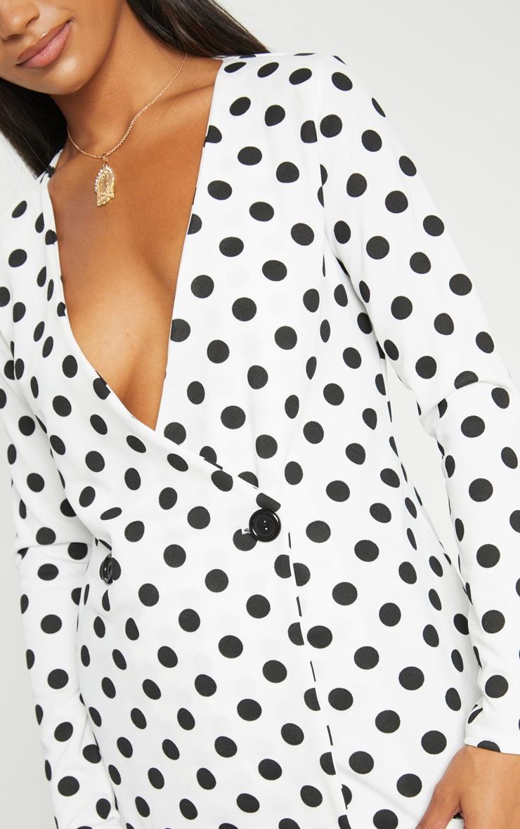 White Polka Dot Blazer  5