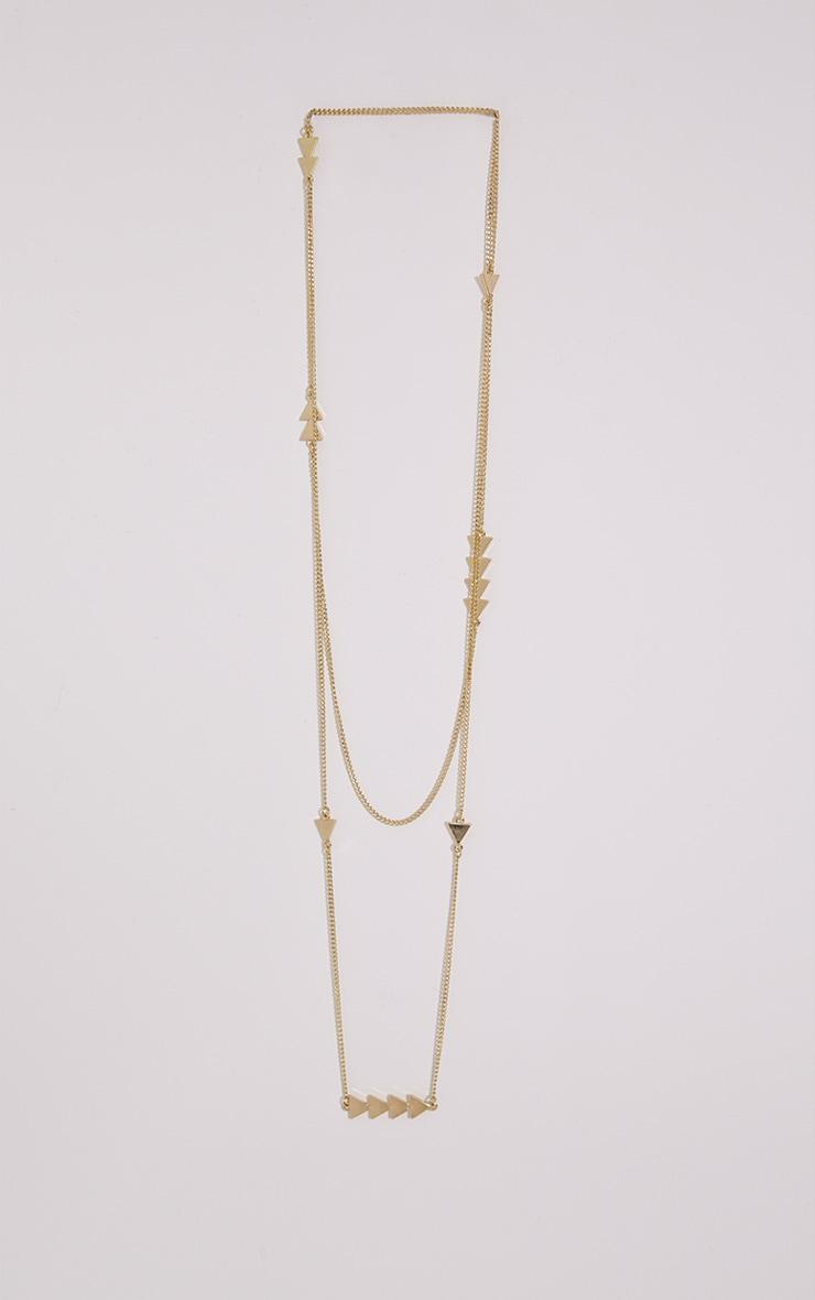 Ursula Gold Longline Gold Arrow Necklace 1