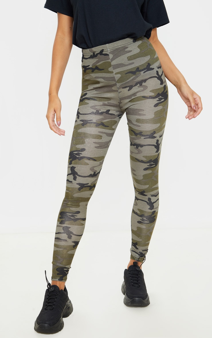 Khaki Camo Print Leggings 2
