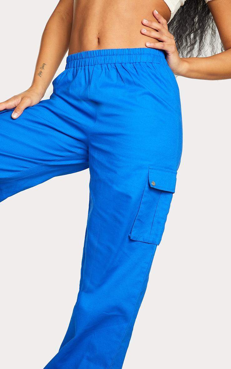 Cobalt Wide Leg Cargo Pants 4