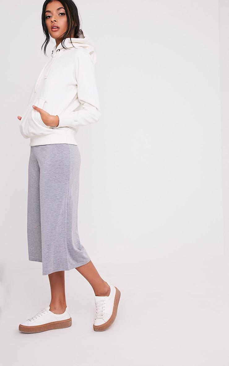 Basic jupe-culotte grise 1