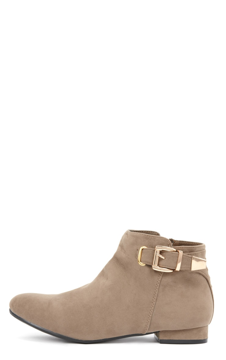 Layla Beige Suede Ankle Boots 1