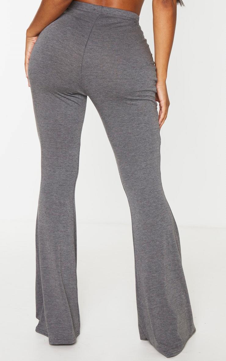 Shape Grey Jersey High Waist Flared Pants 3