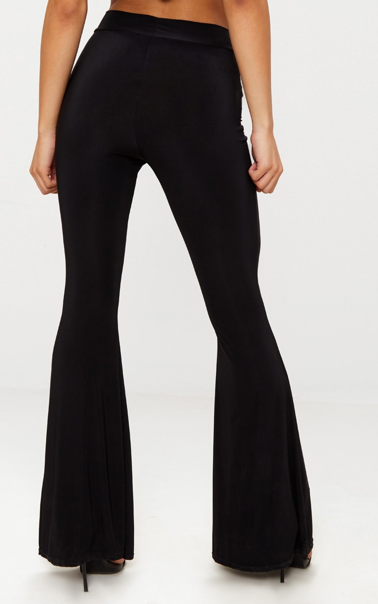 Black Slinky High Waisted Flares 4