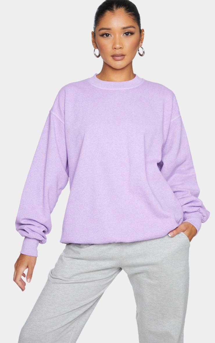 Purple Washed Sweatshirt 1