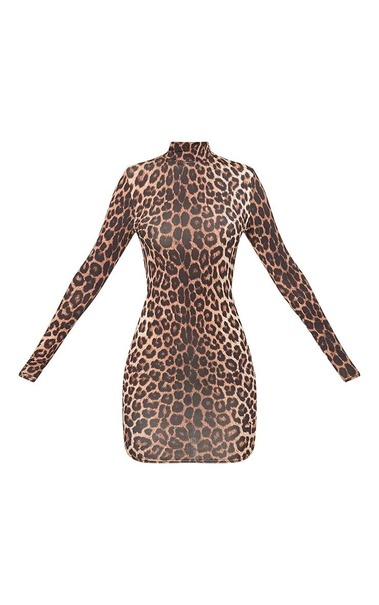 Leopard Print Bodycon Dress 3