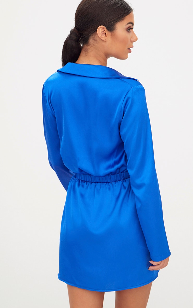 Cobalt Diamante Waist Plunge Front Shift Dress 2