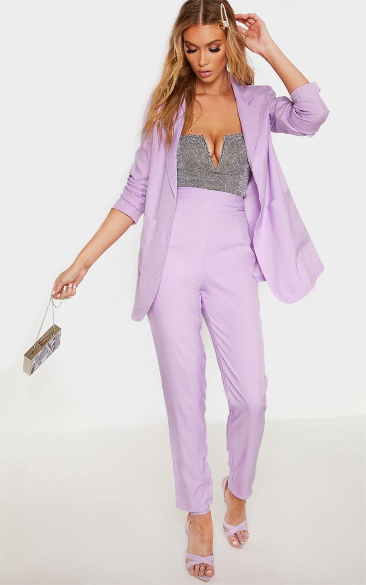 Tall Lilac Fitted Blazer  4