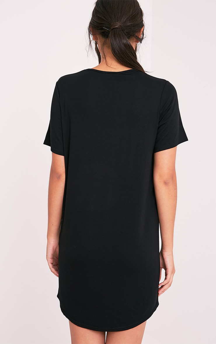 Cute But Crazy Black Oversized Nightie 2