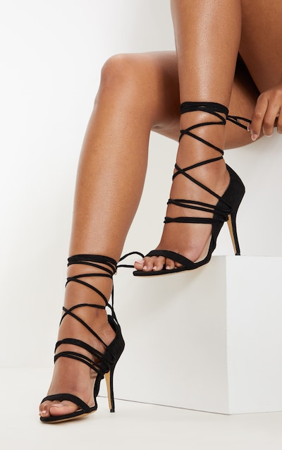 26a2b3cd0211 Black Strappy Heeled Sandal