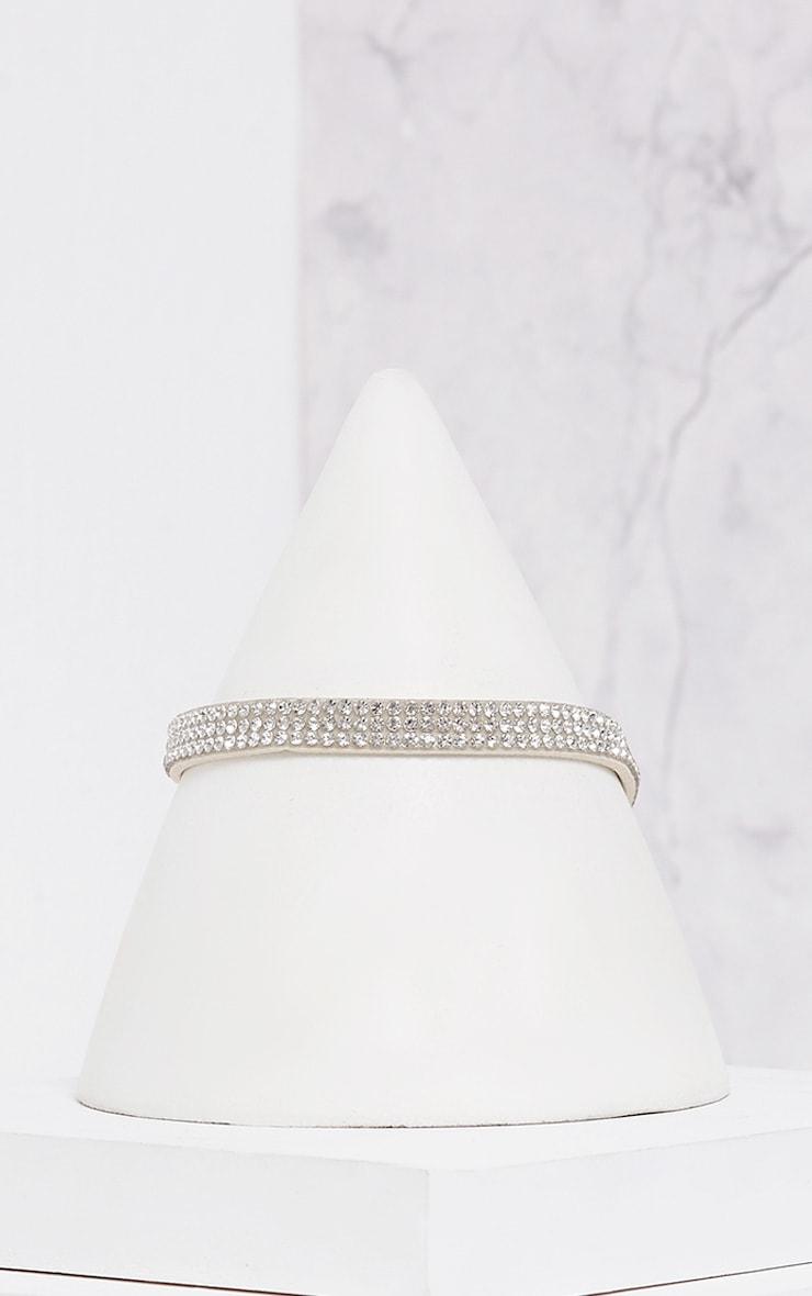 Sanie White Diamante Choker 2