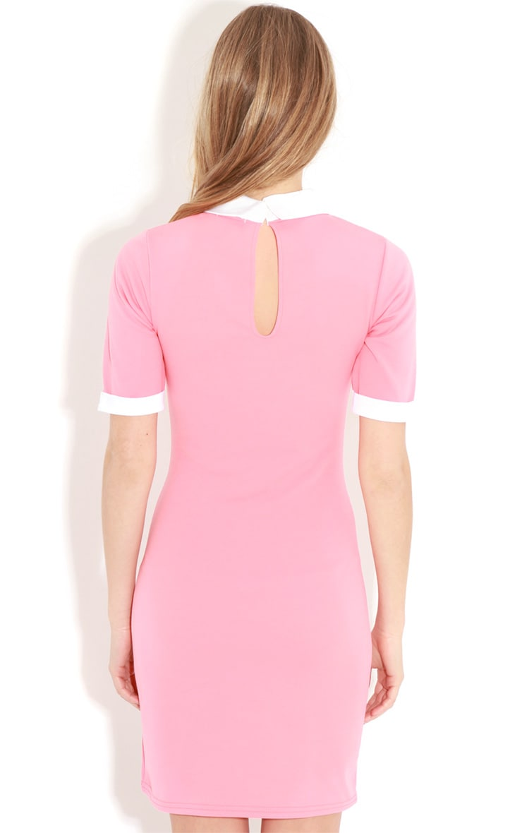 Eileen Coral Collar Dress 2