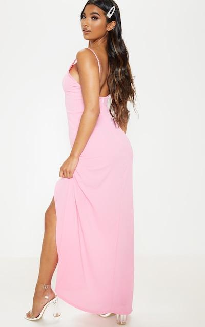 Pink Button Through Maxi Dress