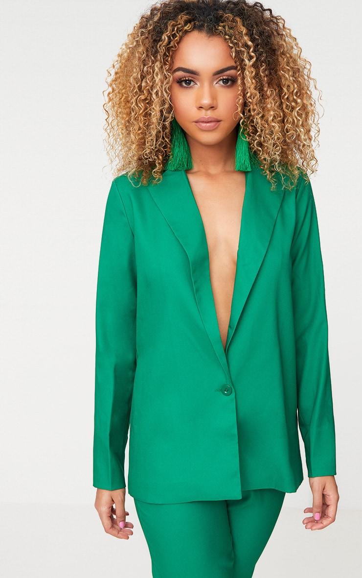 Bright Green Oversized Boyfriend Fit Blazer 4