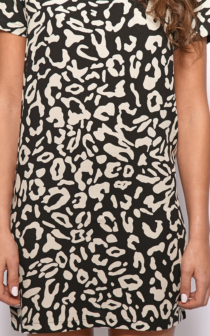 Cherie Leopard Print Shift Dress 4