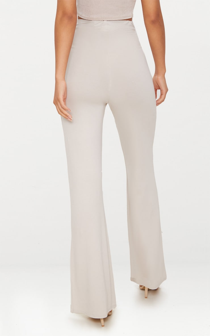 Stone Basic Jersey Wide Leg Trousers 4