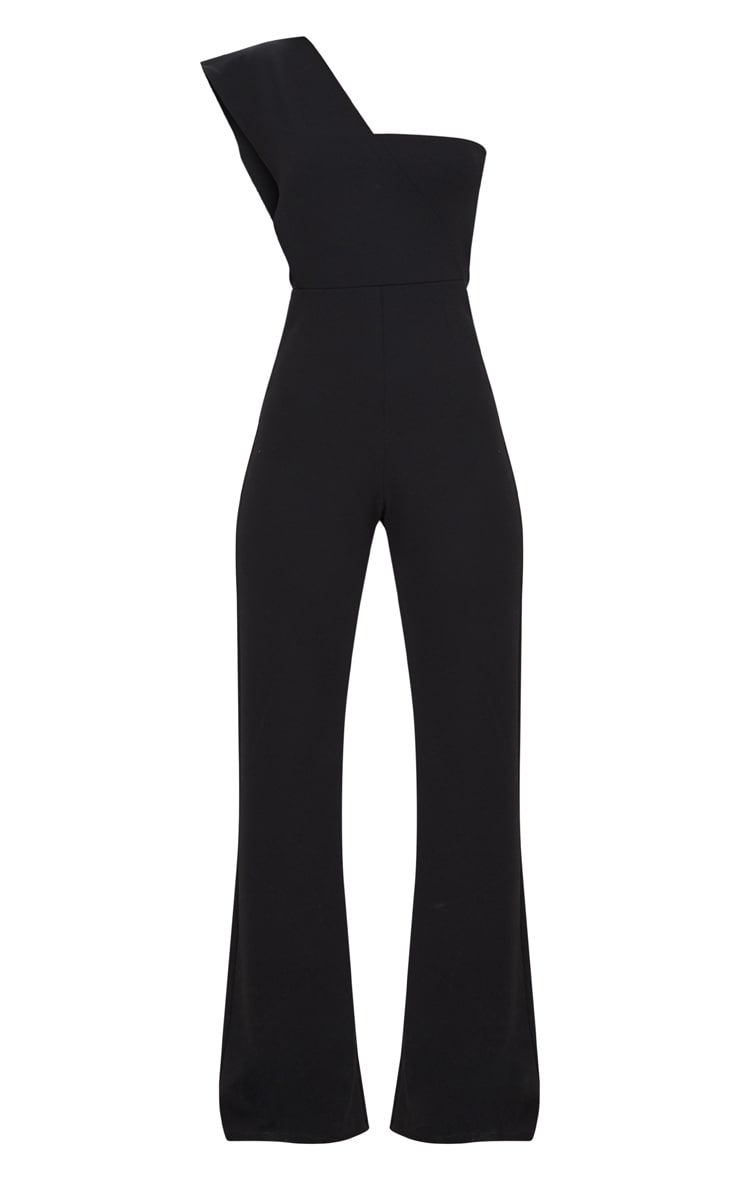 Black Drape One Shoulder Jumpsuit 3