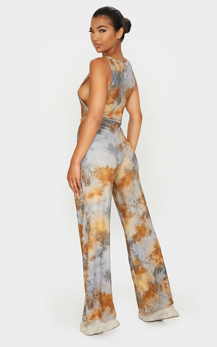 Multi Tie Dye Side Boob Jumpsuit 2