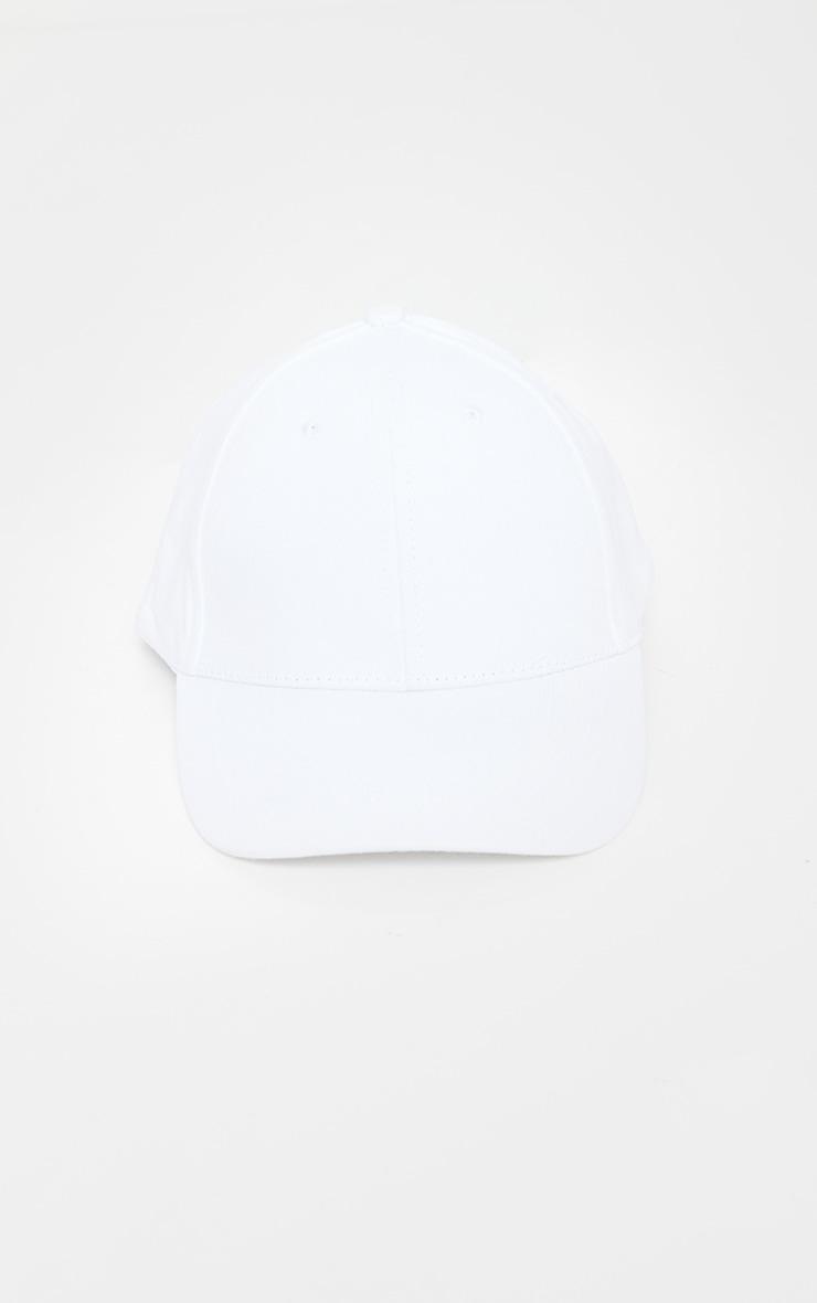 White Woven Baseball Cap 2