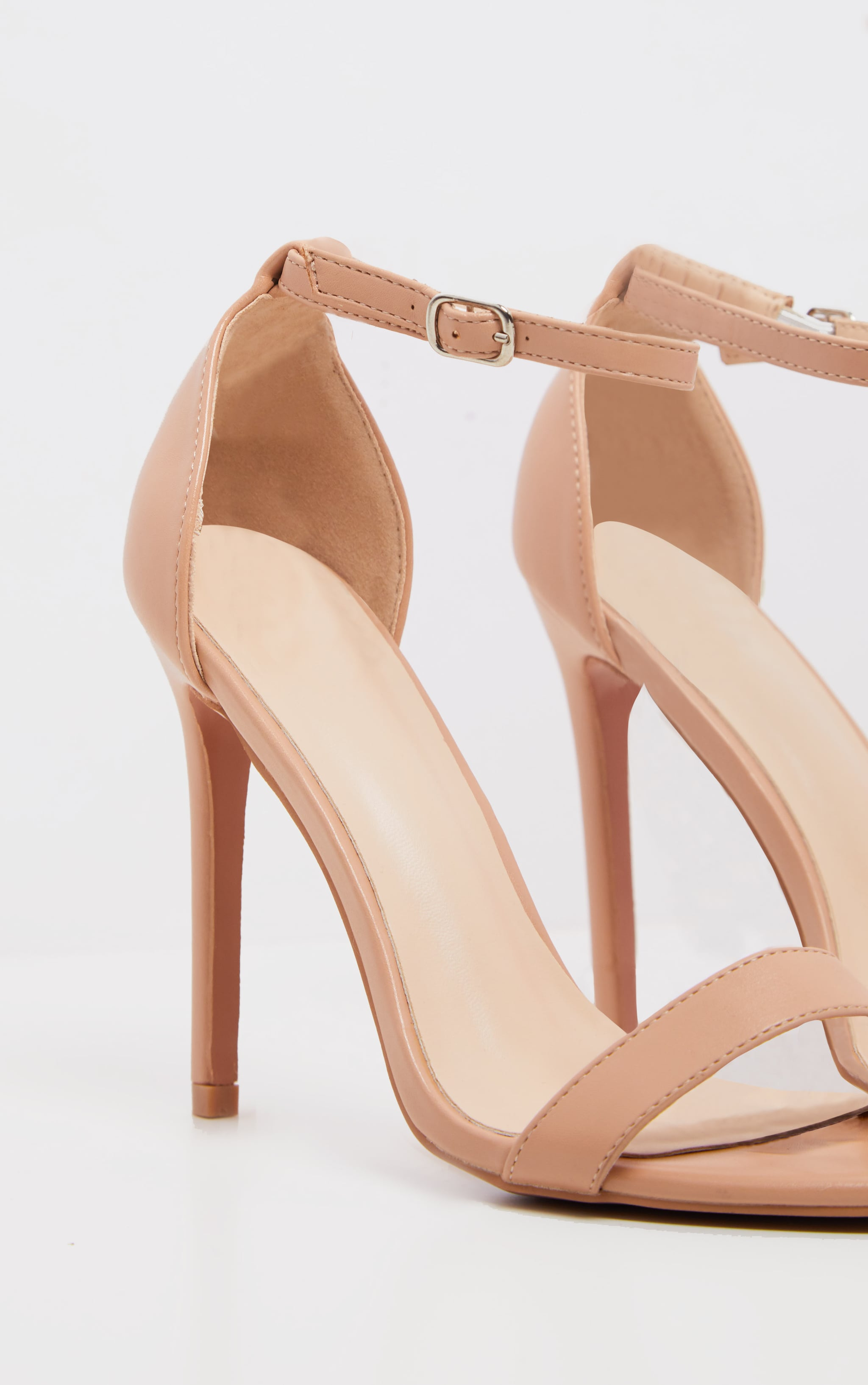 Dark Nude Clover Strap Heeled Sandal 3