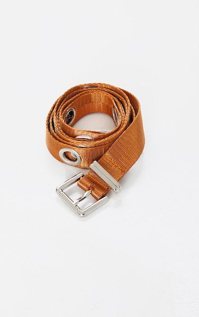 Tan Eyelet Long Taping Belt
