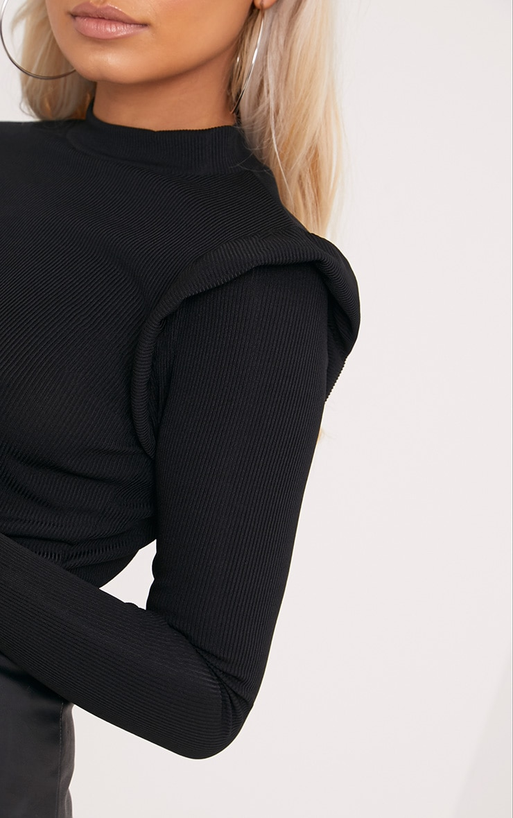 Zooey Black Frill Long Sleeve Top 5