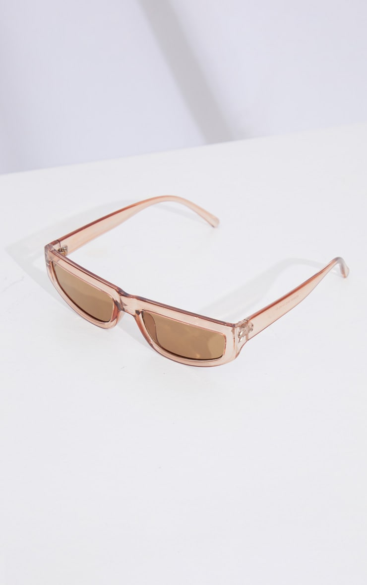 Brown Square Slimline Sunglasses 3