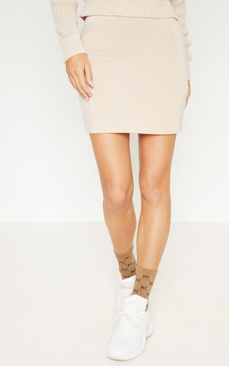 Deep Stone Basic Jersey Mini Skirt 2