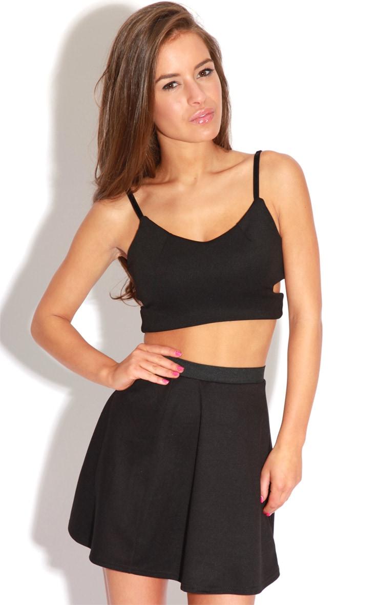 Simara Black Skater Skirt 1