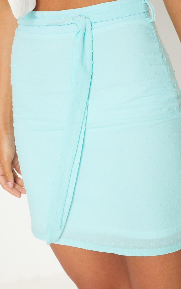 Mint Textured Mini Skirt 5