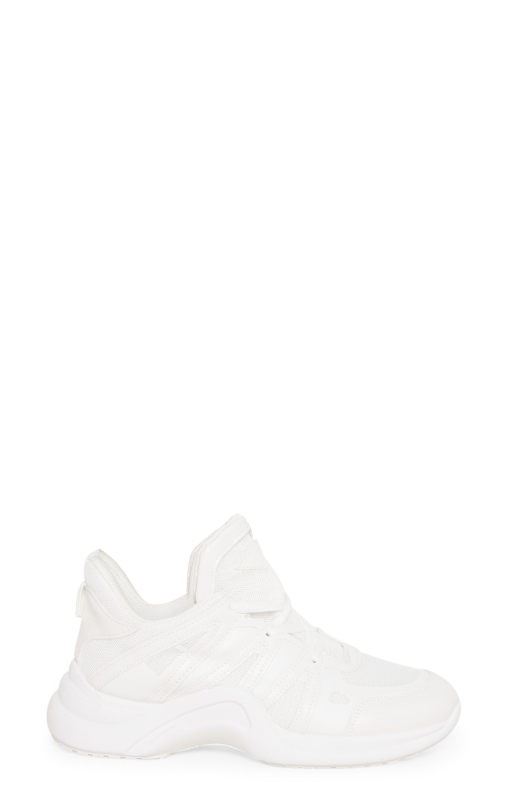 White Arched Sole Chunky Trainers 3